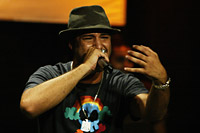 Rapper Mohammed el-Deeb during a show in Cairo (photo: Michael S. Lund)